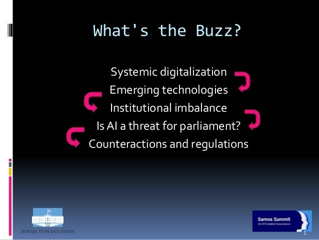 To Regulate or not to Regulate - Opening the AI Black Box for Parliaments  Slide 3