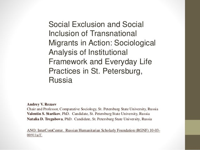 1 what is 'social exclusion' and Environment&urbanization vol 14 no 1 april 2002 41 globalization and  social exclusion globalization and social exclusion in cities: framing the.