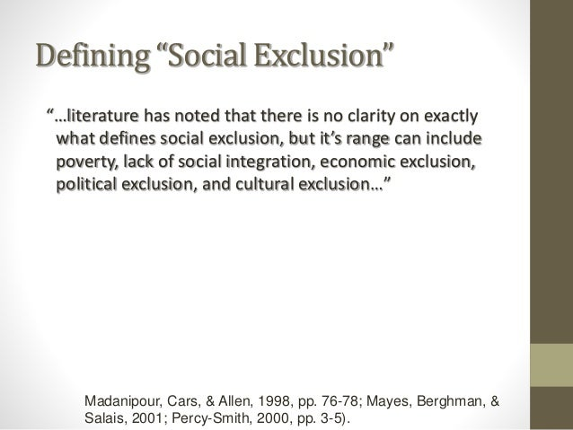 social inklusion definition