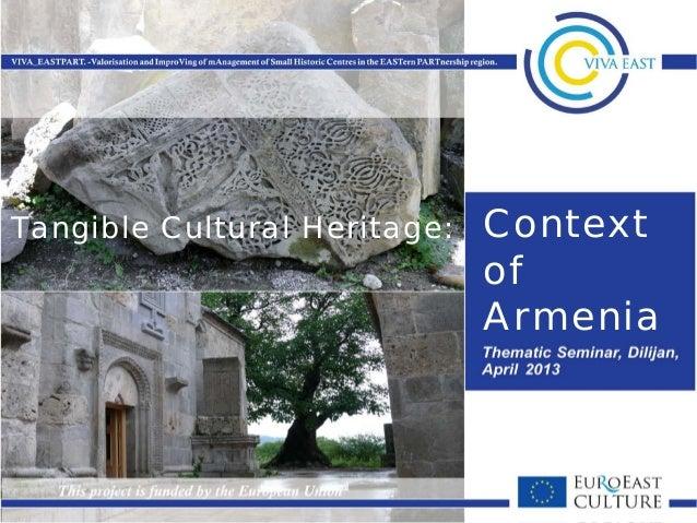 ContextofArmeniaTangible Cultural Heritage: