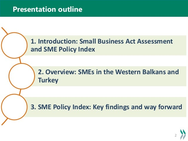 sme policy Methodological considerations for developing an sme policy index for latin america and the caribbean economic and technical cooperation regional meeting on public policies for promotion and support of smes.