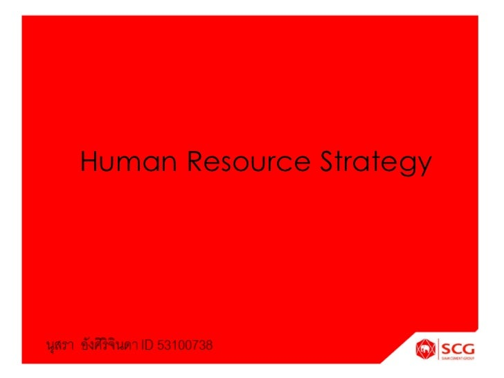 Human Resource Strategy<br />