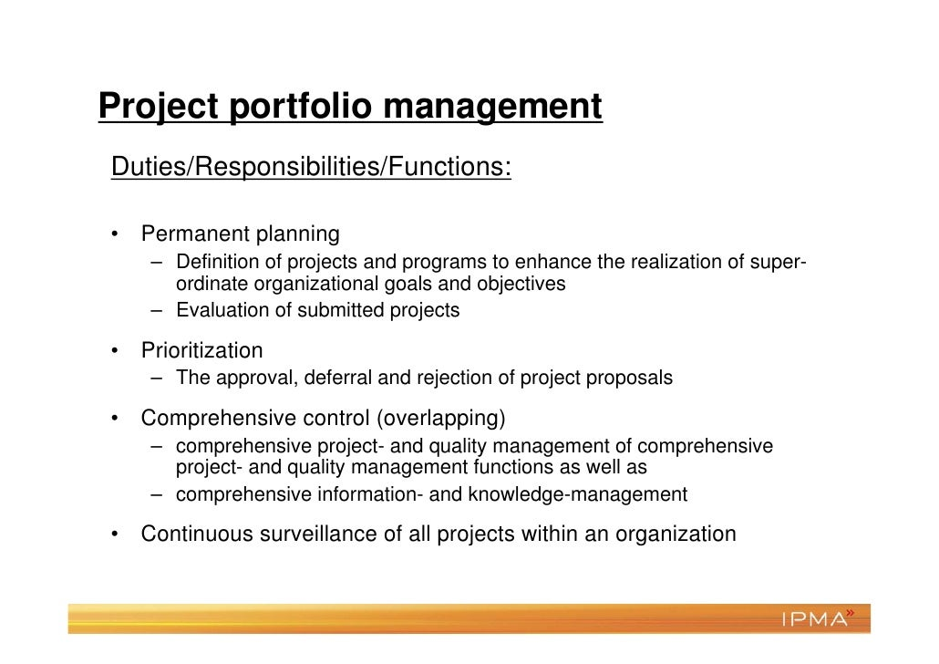 Project Management Certification                    • Formalized verification of                      your knowledge level...
