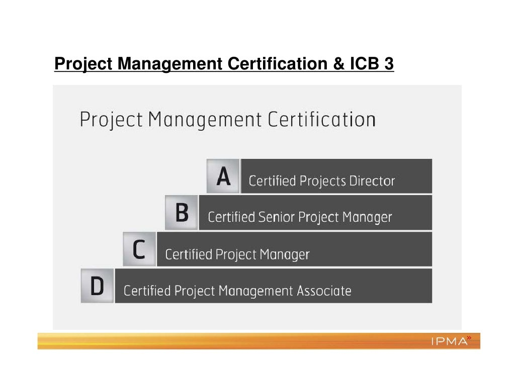 IPMA certification advantages•   How the knowledge is acquired is irrelevant•   Assessment by human beings (assessors)•   ...