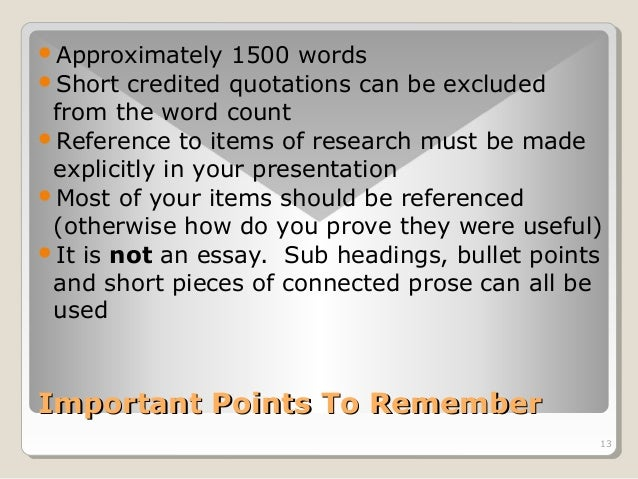 Approximately 1500 words  Short credited quotations can be excluded  from the word count  Reference to items of researc...