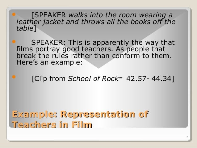 7   [SPEAKER walks into the room wearing a  leather jacket and throws all the books off the  table]   SPEAKER: This is a...