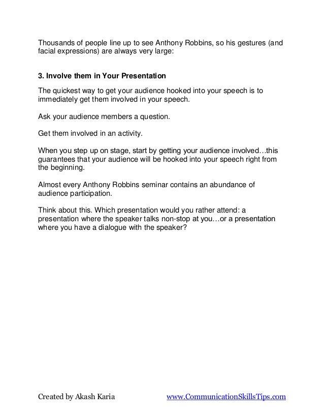 Presentation secrets of anthony robbins how to speak and motivate like tony Slide 2