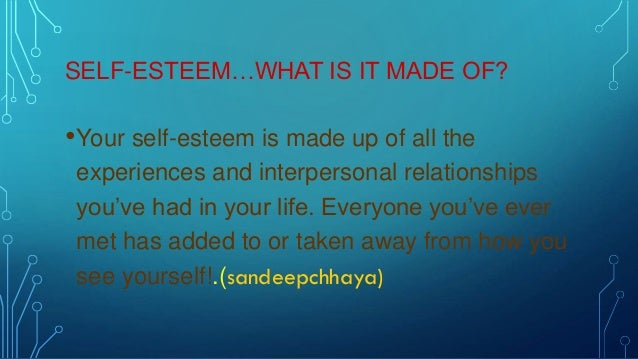 how to create self esteem