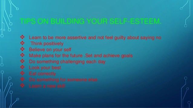 10 ways to improve self esteem