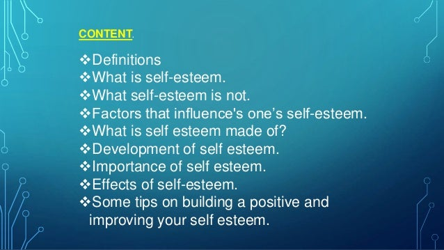 how to improve your self concept