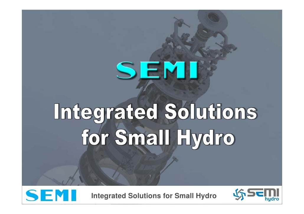 Integrated Solutions for Small Hydro