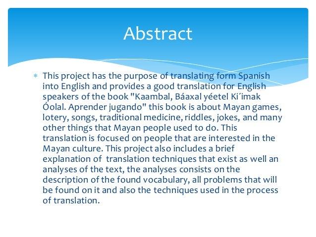 "Spanish- English Translation of the text ""Kaambal, Báaxal yéetel Ki´i…"