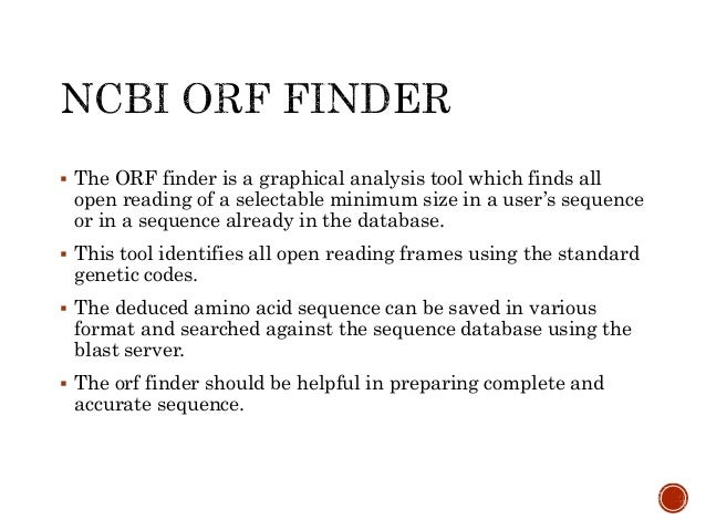 how to use orf finder