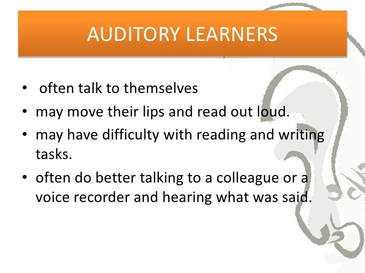 essay about auditory learners Writework is the biggest source online where you can find thousands of free school & college essays, research & term papers, book reports in over 190 categories.