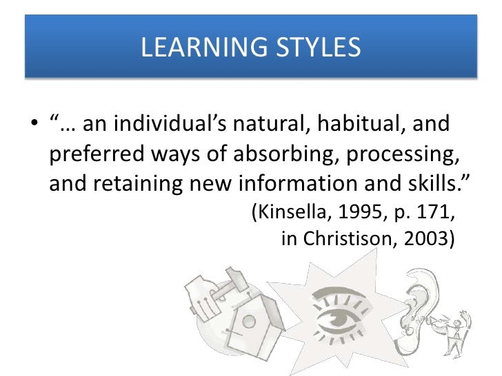 Pre-writing and learning styles