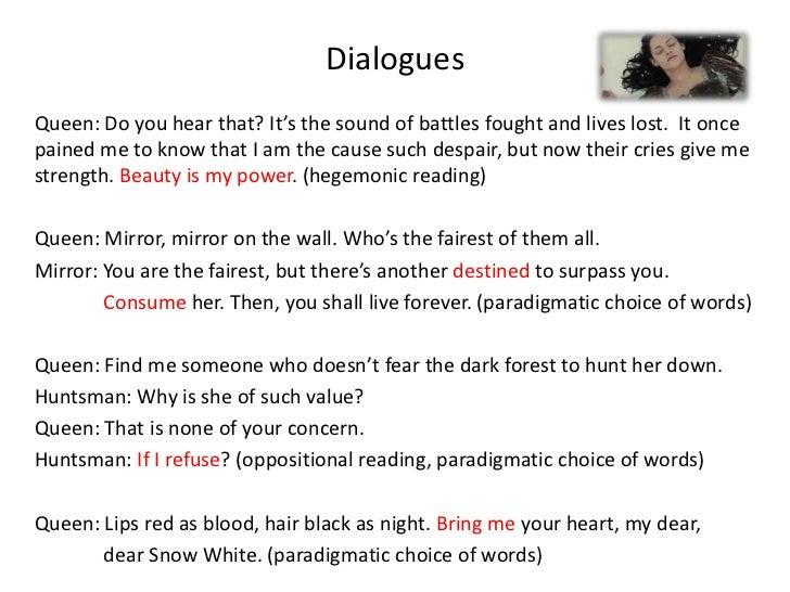 dialogues of snow white