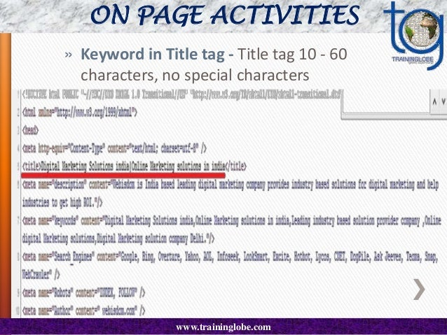 CONTD..  Keyword in meta tag - Shows theme - less than 10 words.  Every word in this tag MUST appear somewhere in the bod...