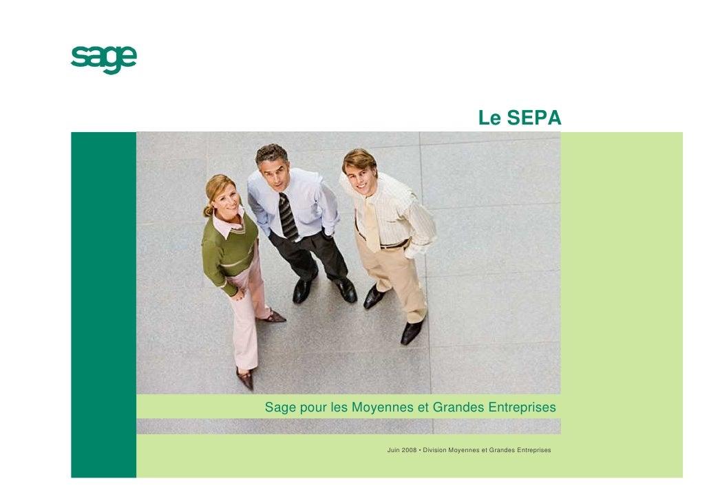 Le SEPASage pour les Moyennes et Grandes Entreprises                  Juin 2008 • Division Moyennes et Grandes Entreprises