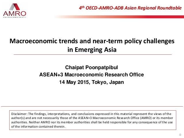 Chaipat Poonpatpibul ASEAN+3 Macroeconomic Research Office 14 May 2015, Tokyo, Japan 4th OECD-AMRO-ADB Asian Regional Roun...