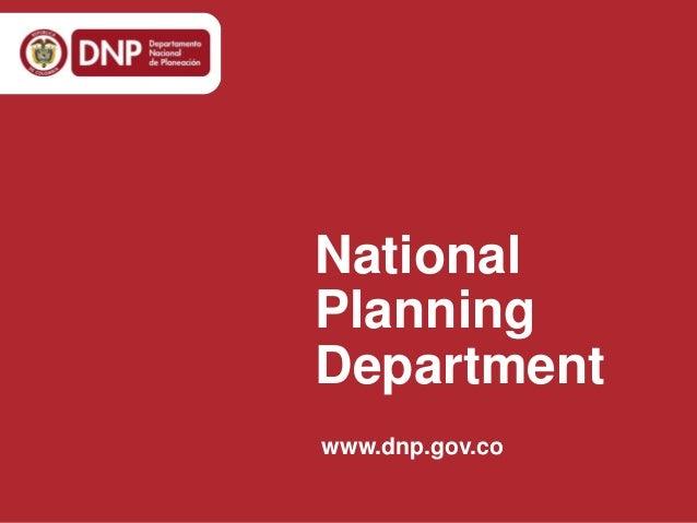 National Planning Department www.dnp.gov.co