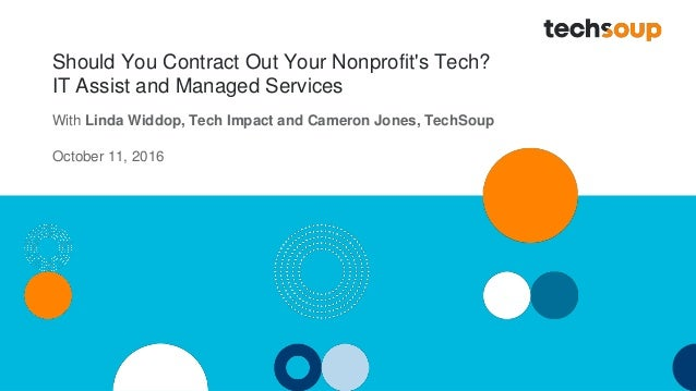 Should You Contract Out Your Nonprofit's Tech? IT Assist and Managed Services With Linda Widdop, Tech Impact and Cameron J...