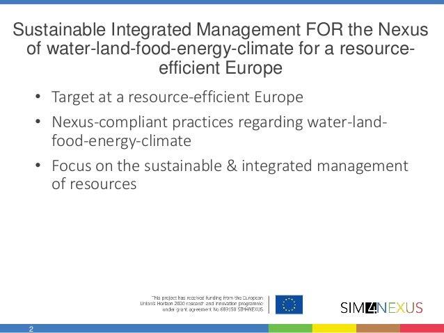 Water-food Interlinkages and the Nexus Slide 2