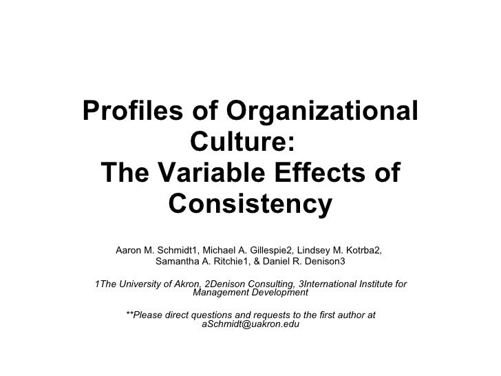 The effect of organizational culture within