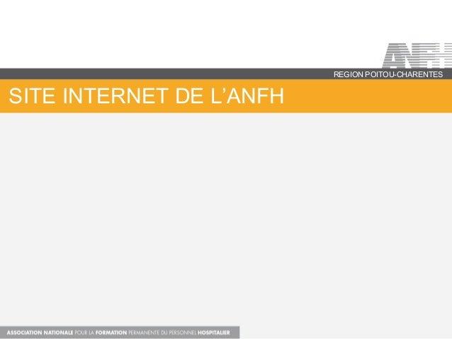 SITE INTERNET DE L'ANFH REGION POITOU-CHARENTES