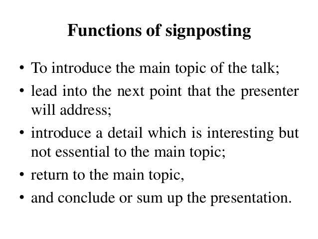 Define signposting essay