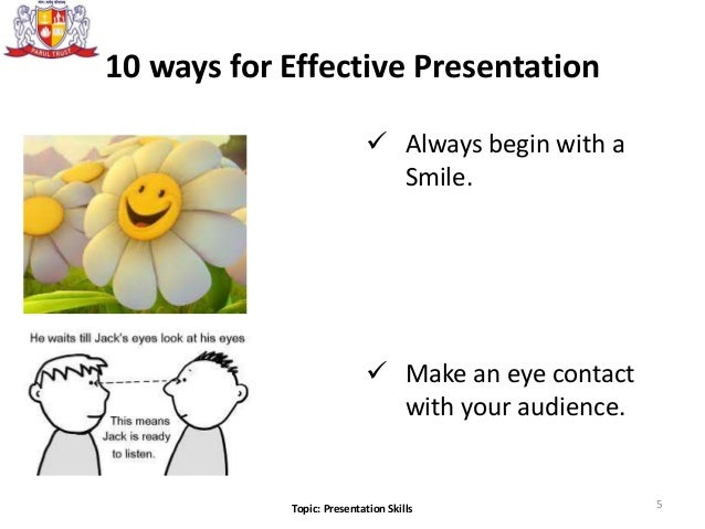 effective presentation Effective, confident public speaking should look effortless in reality most people  need considerable time and practice before they can talk confidently in front of.
