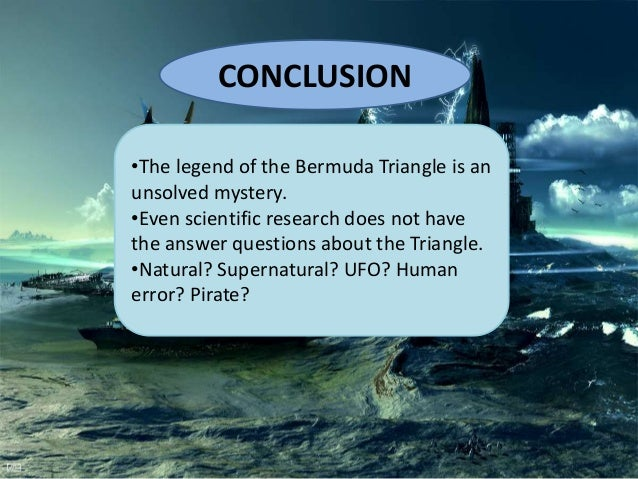 Research questions about the bermuda triangle