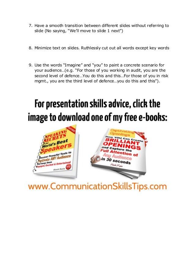 Presentation skills coaching Slide 2