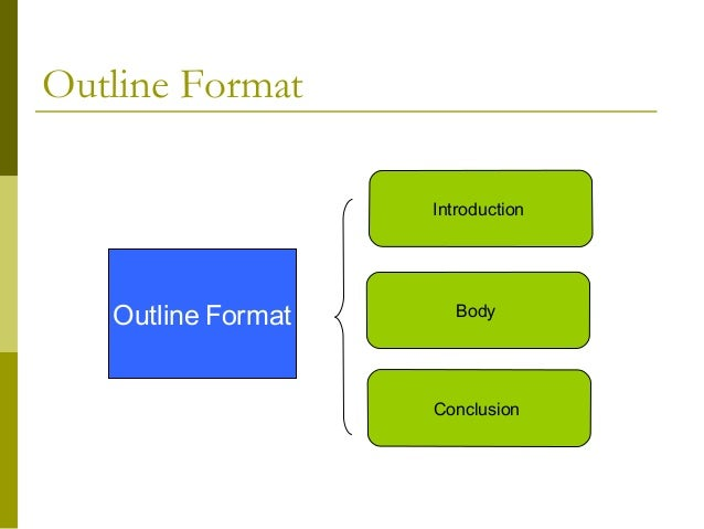 outline format for presentation Choose and personalize a presentation outline template to create a neat and pro format download templates, examples & formats for powerpoint, word and pdf.