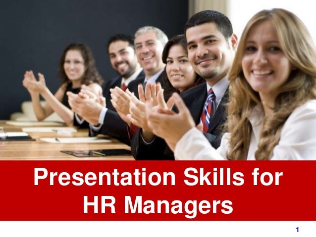 1www.exploreHR.org Presentation Skills for HR Managers