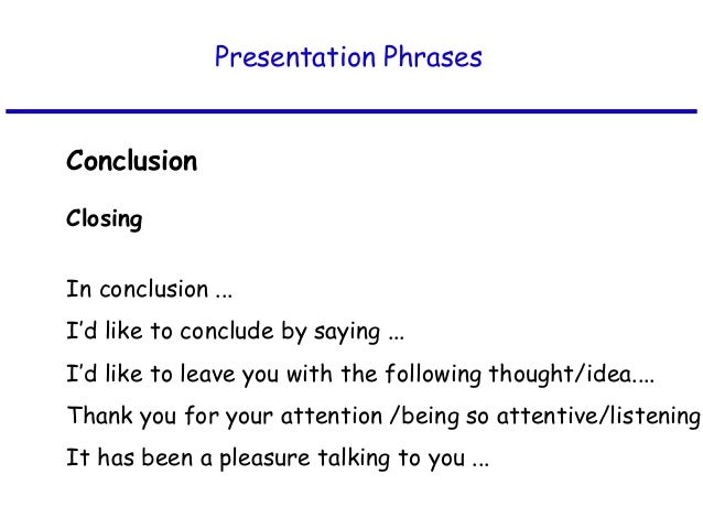 business presentation words