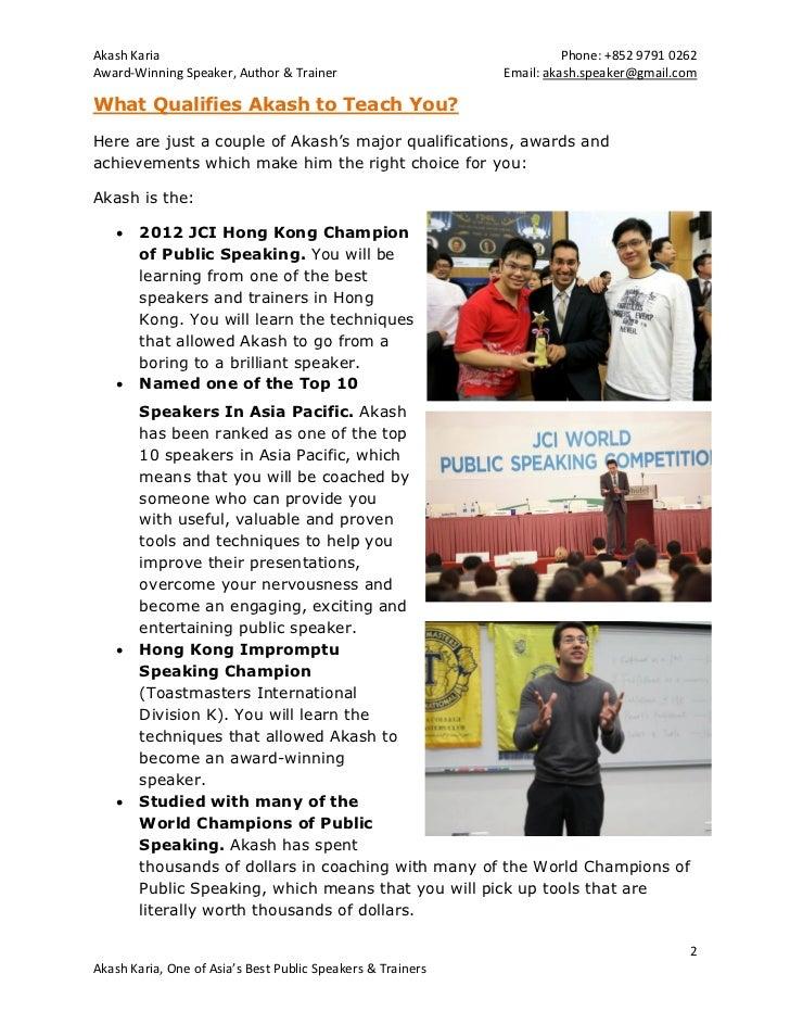 Hong Kong Presentation Skills and Public Speaking Coaching Slide 2