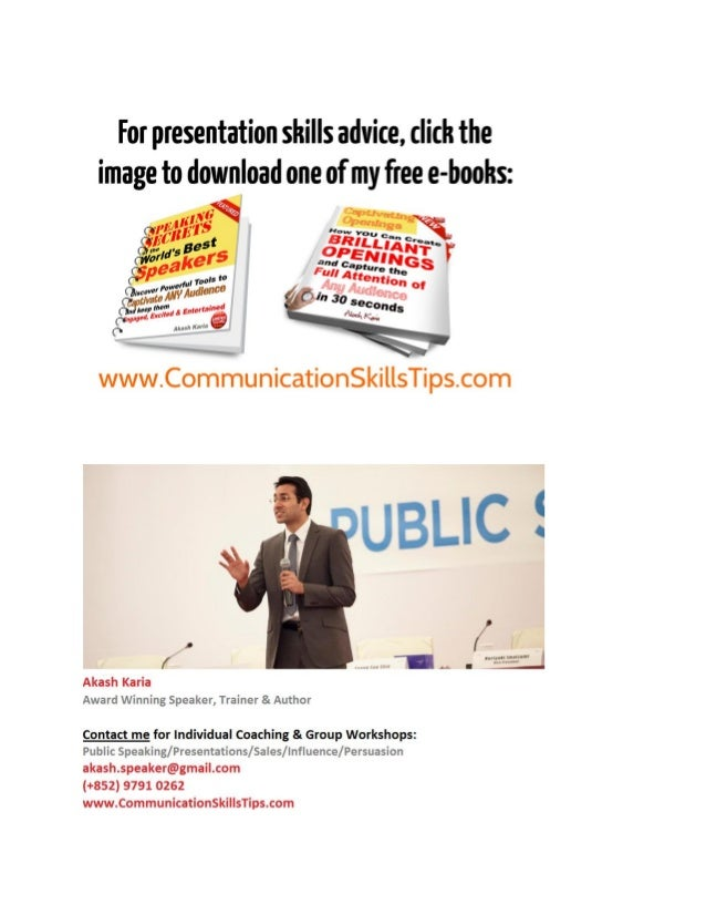 Presentation skills training Slide 2