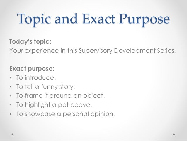 presentation skills topics