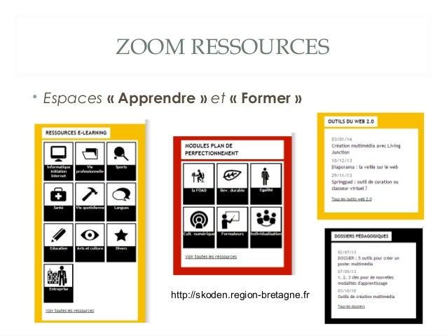 ZOOM RESSOURCES • Espaces «Apprendre» et «Former»  http://skoden.region-bretagne.fr