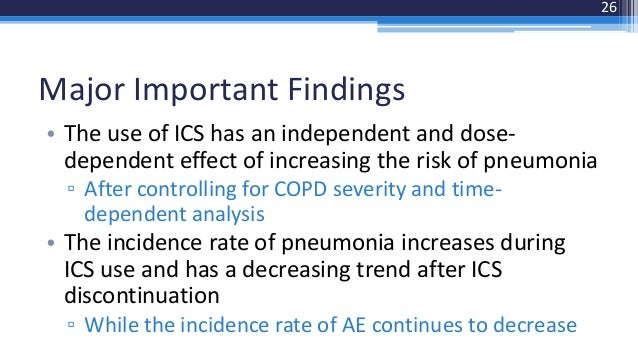 Inhaled Corticosteroids Increase The Risk Of Pneumonia In
