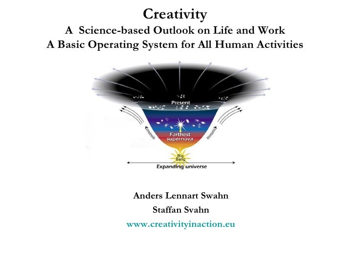 Creativity A  Science-based Outlook on Life and Work A Basic Operating System for All Human Activities Anders Lennart Swah...