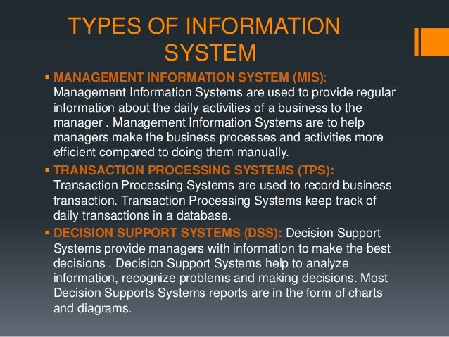 proposals of the 5 types of information systems for a record store Implementation of hospital information system (his) request for proposal - volume 1 5 422216 ambulance services (including referral.