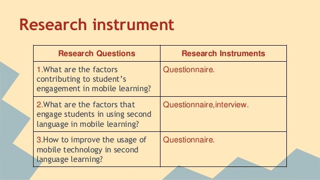 methodology instruments
