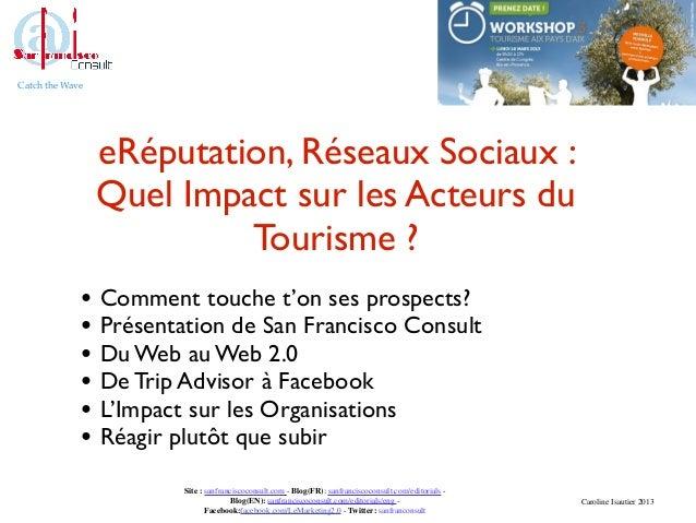 Catch the Wave                 eRéputation, Réseaux Sociaux :                 Quel Impact sur les Acteurs du              ...
