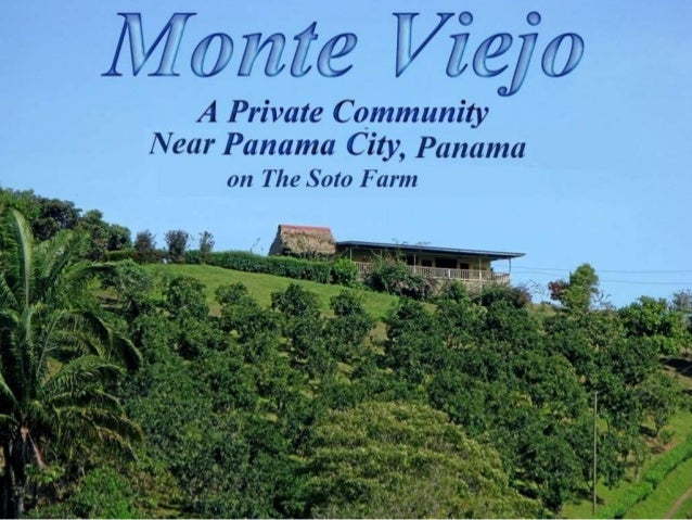 "THE PLANNED ""MONTE VIEJO COMMUNITY"" on THE SOTO FARM  PANAMA:  THE  VISION  Our vision for Panama started to take shape in..."