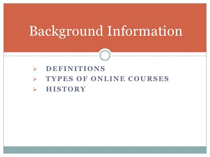 powerpoint presentation on online courses