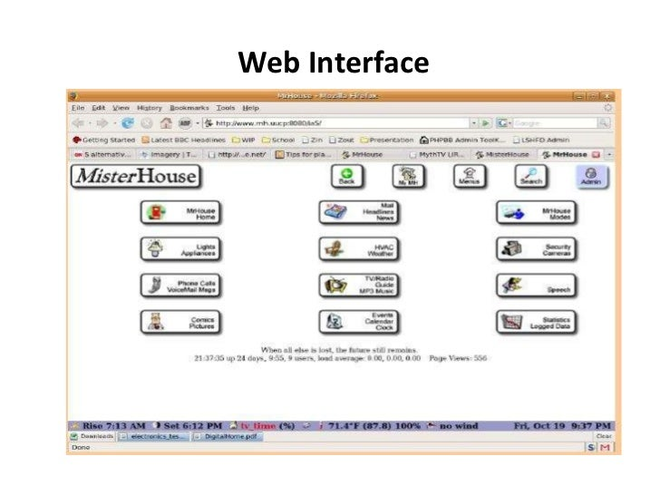 Home Automation Web Interface