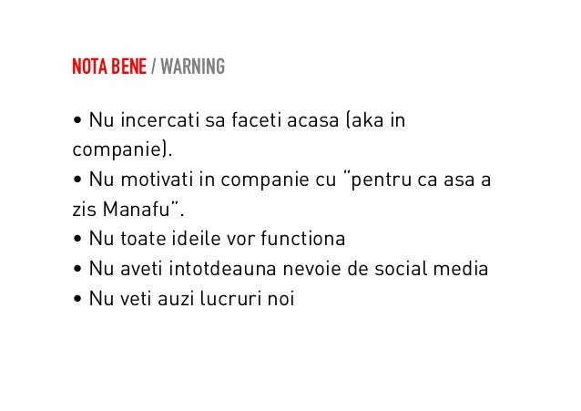 NOTA BENE / ADVISEMENT  Echipa duala  • social media (continut, creativitate,  psihologie, comunicare)  • performance mark...