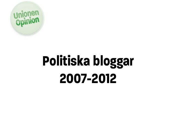 Politiska bloggar   2007-2012