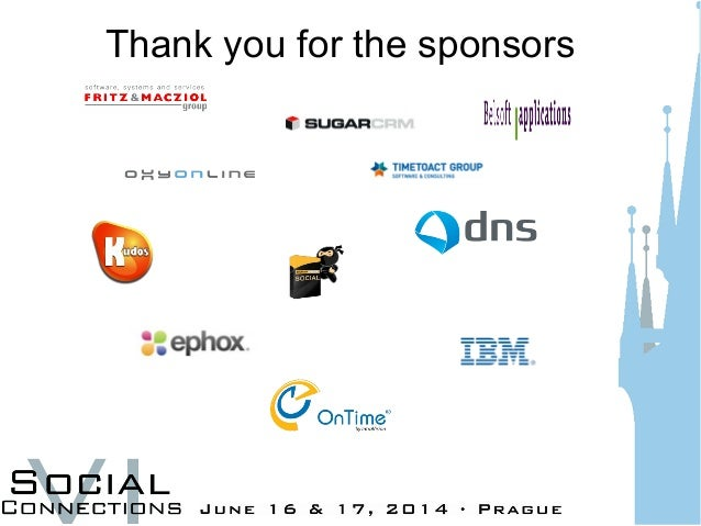 Thank you for the sponsors